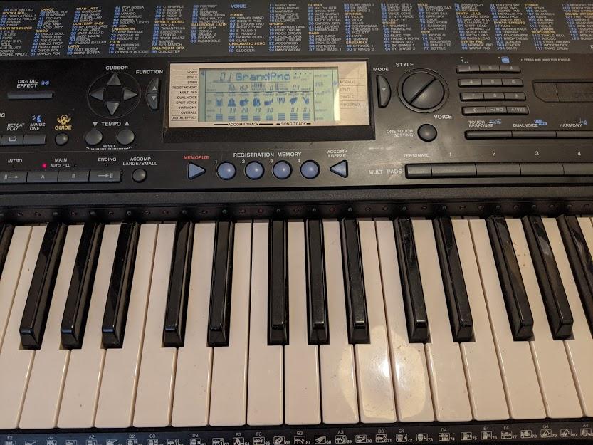 Keyboard practice!  #gainingxp